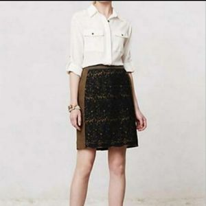 MaEve Rione Anthropologie Lace Skirt